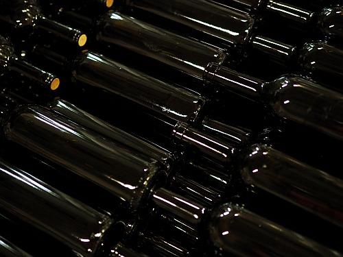 Weinflasche ohne Etikett