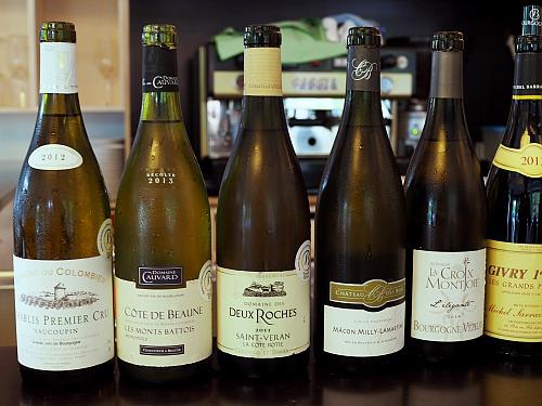 Weinprobe selbst gemacht Burgunder weiß