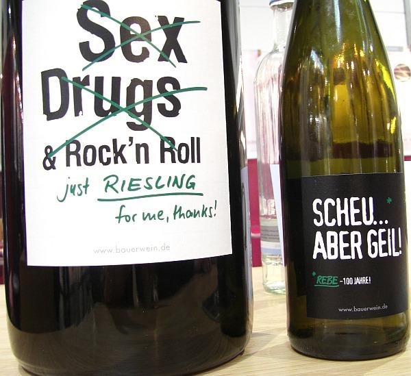 Weinetiketten von Emil Bauer und Söhne