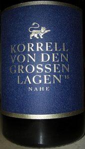 """Korrell, Nahe, """"Von den großen Lagen"""", Jahrgang 2015"""