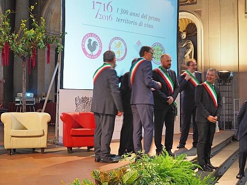 300 Jahre Chianti Classico Festakt Palazzo Vecchio Firenze