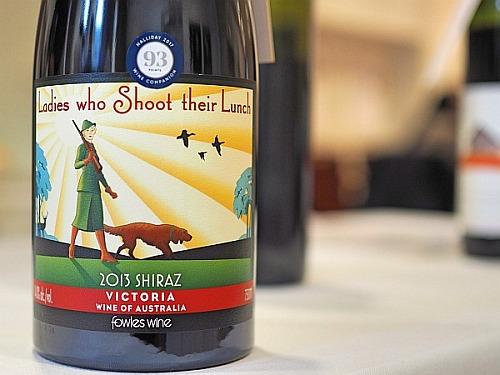 skurrile Weinnamen, australischer Shiraz aus Victoria