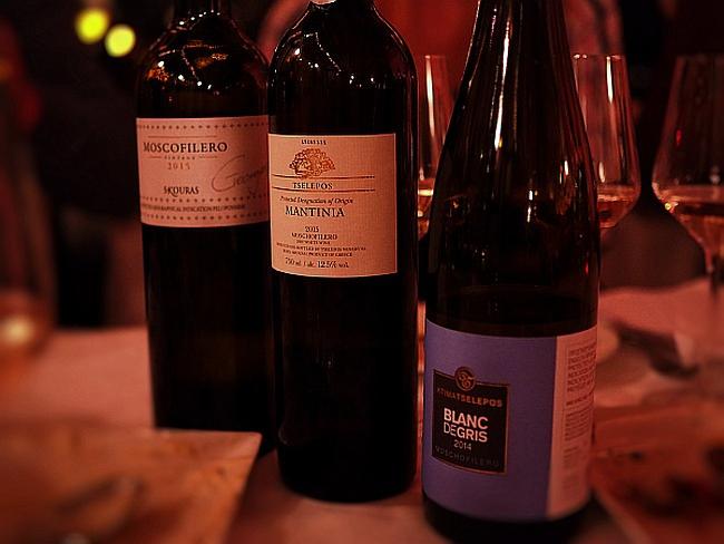 griechischer Wein Etiketten mehrere Sprachen