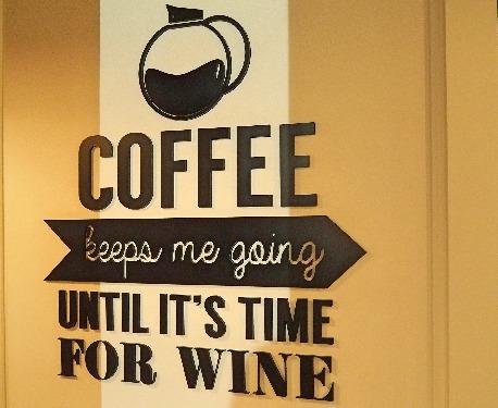 Kaffee Wein Spruch