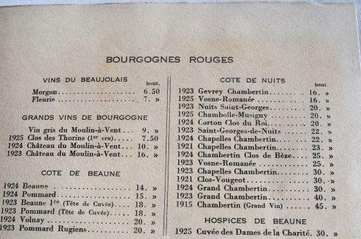 Moulin à Vent Weinkarte historisch Frankreich
