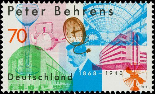 Deutsche Post Briefmarke Peter Behrens Design