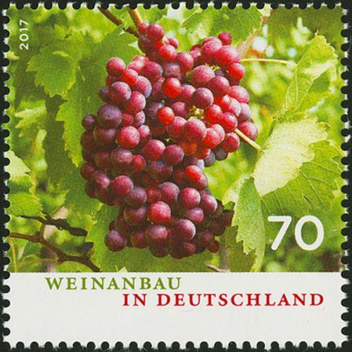 Wein und Briefmarken Deutschland Traube Form